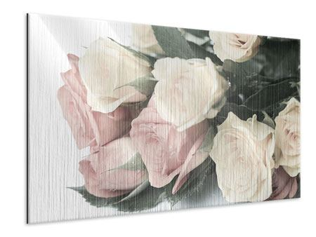Metallic Print Romantic Rose