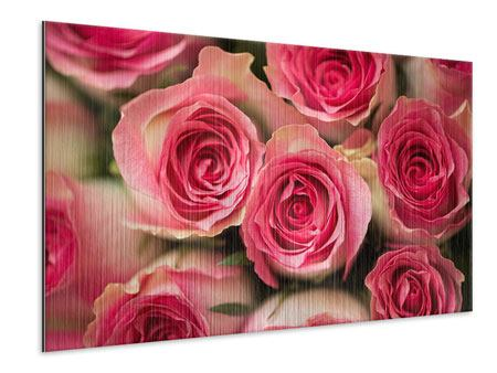 Metallic Print Rose Love
