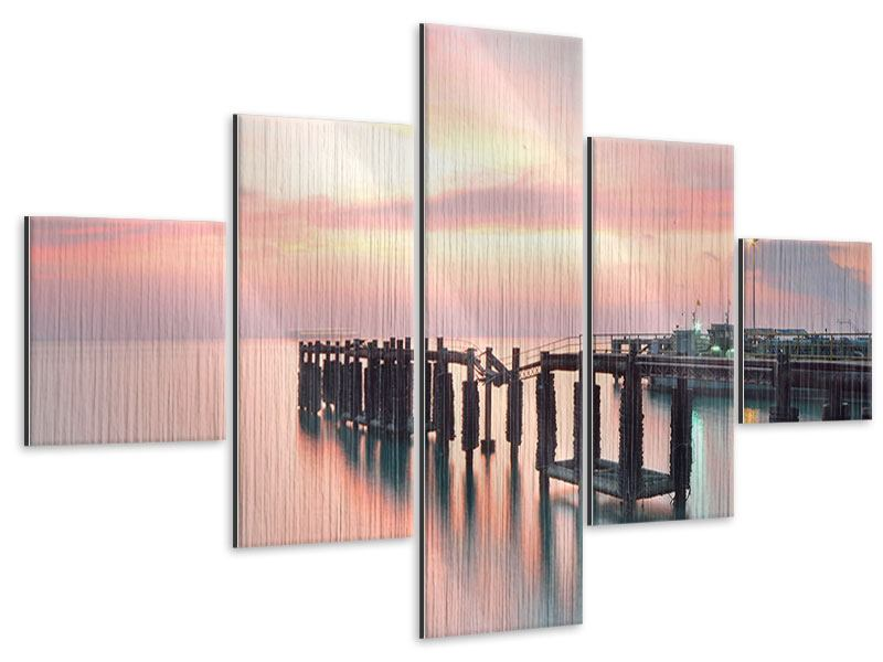 5 Piece Metallic Print The Soothing Sunset