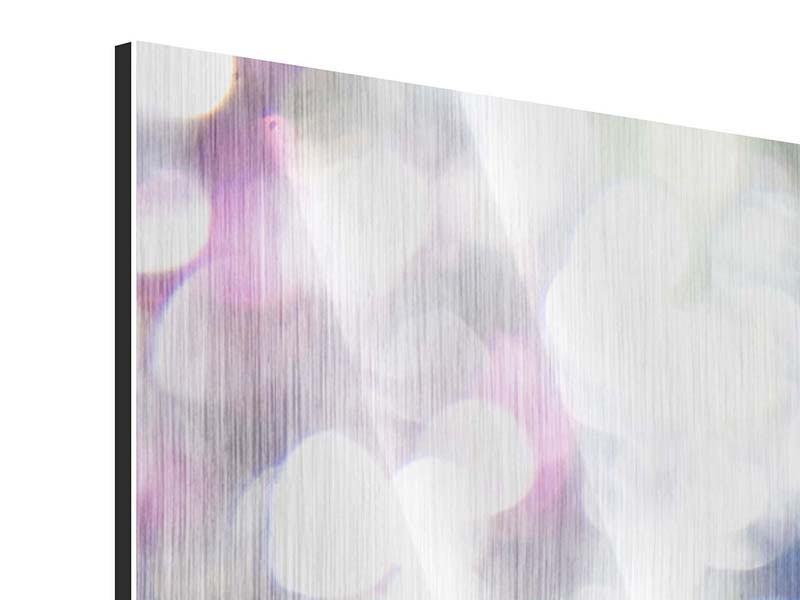 5 Piece Metallic Print Abstract Light