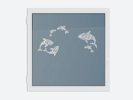 Decorative Window Film abstract fish
