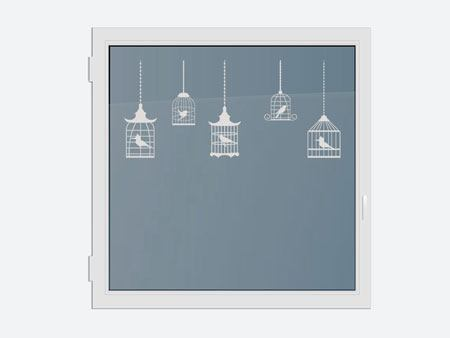 Decorative Window Film 5 birdcages