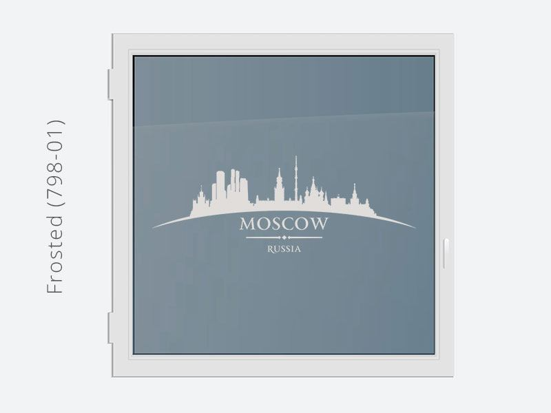 Decorative Window Film Skyline Moscow