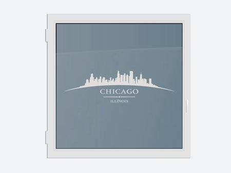 Decorative Window Film Skyline Chicago
