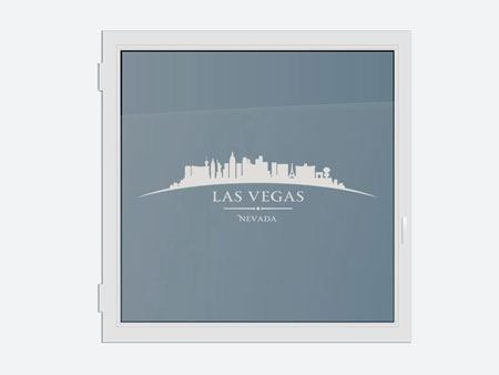 Decorative Window Film Skyline Las Vegas