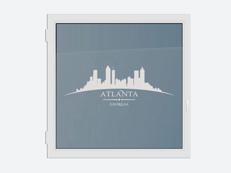 Decorative Window Film Skyline Atlanta