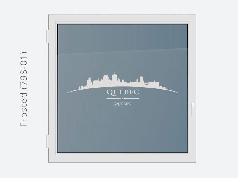Decorative Window Film Skyline Quebec