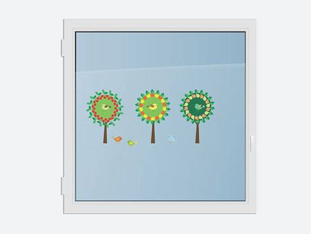 Window Sticker Imaginative Trees 2