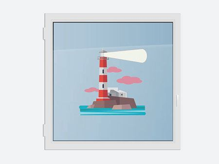 Window Sticker lighthouse