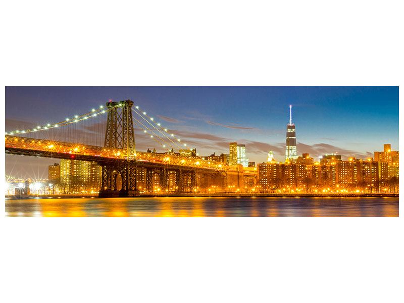 Poster Panoramique Horizon à NY, Pont de Williamsburg