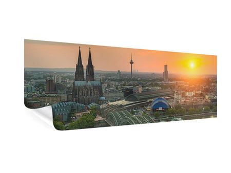 Panoramic Poster Skyline Cologne At Sunset