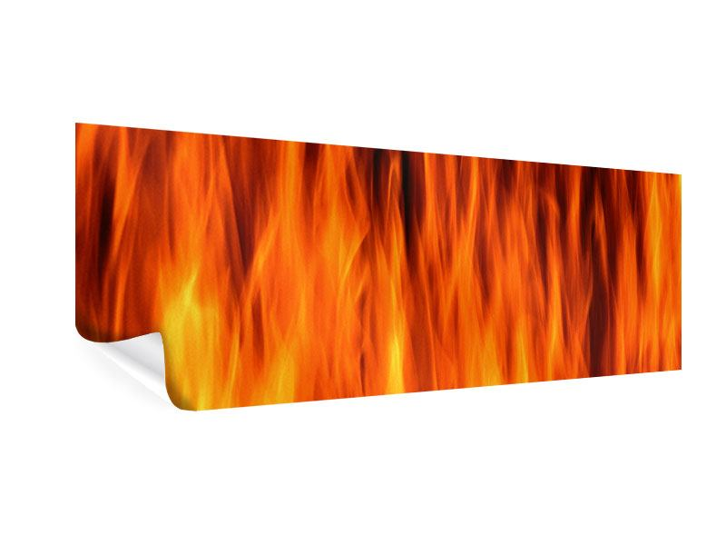 Panoramic Poster Fire Close Up