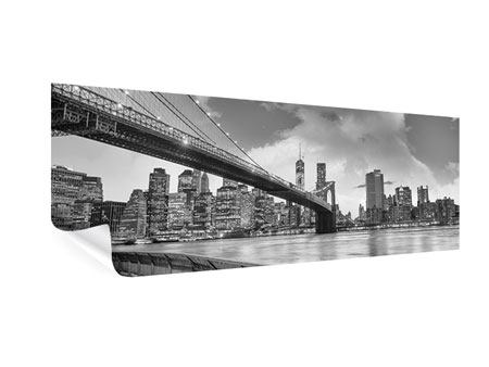 Panoramic Poster Skyline Black And White Photography Brooklyn Bridge NY