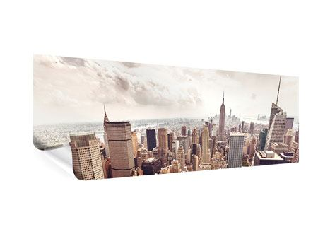 Panoramic Poster Skyline Over The Roofs Of Manhattan