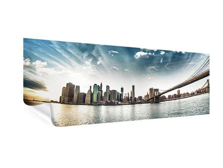 Panoramic Poster Brooklyn Bridge From The Other Side