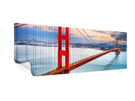 Panoramic Poster The Golden Gate Bridge At Sunset