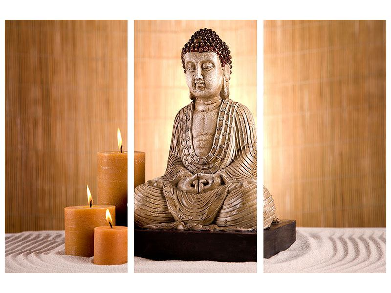 3 Piece Poster Buddha In Meditation