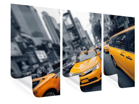 Poster 3 pezzi Taxi a New York