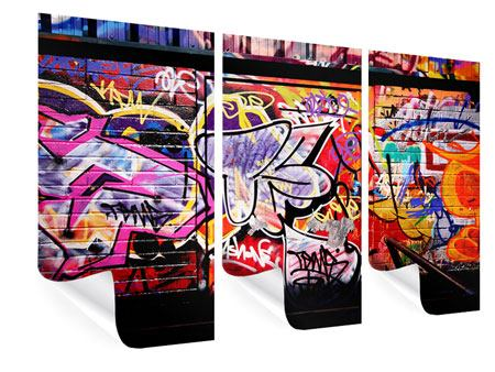3 Piece Poster Graffiti Wall Art