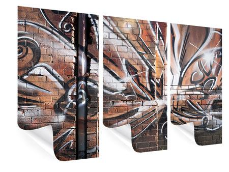 3 Piece Poster Graffiti Wall