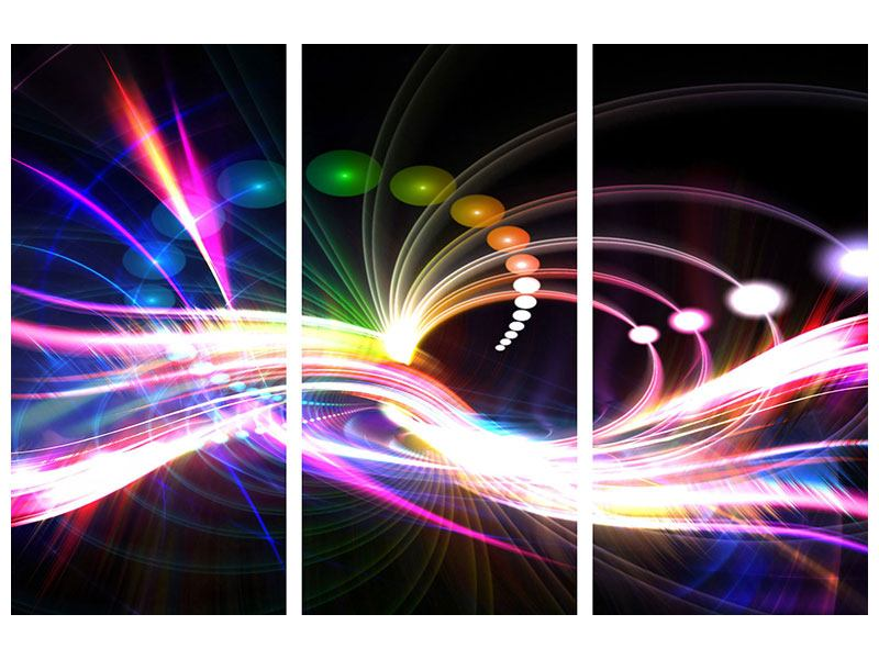 3 Piece Poster Abstract Light Reflections