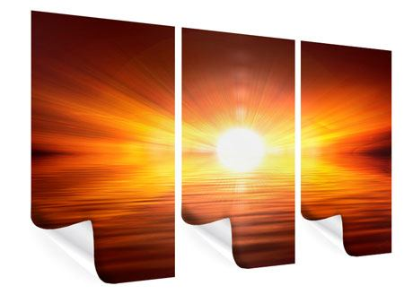 3 Piece Poster Glowing Sunset