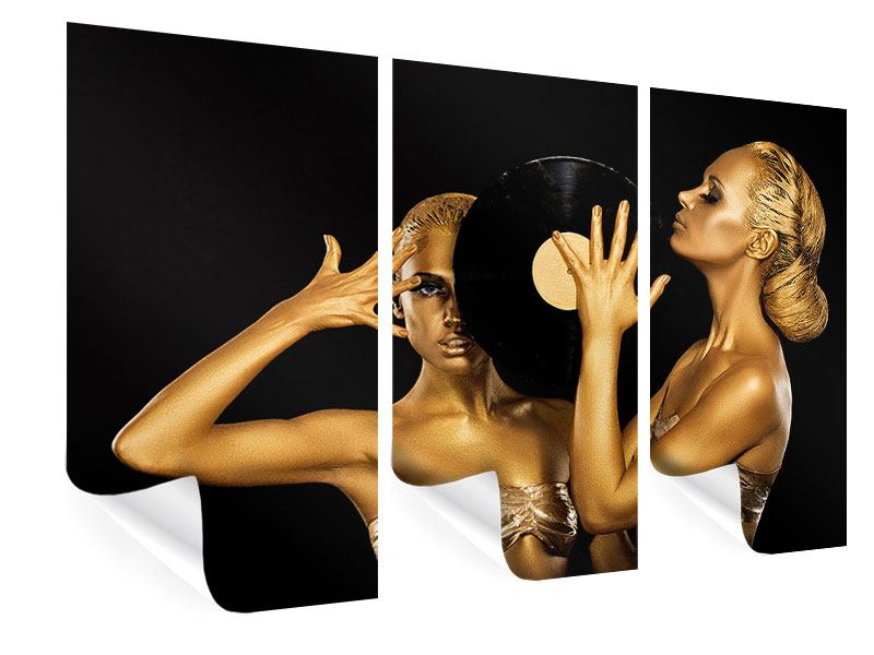 3 Piece Poster Gold DJ`s