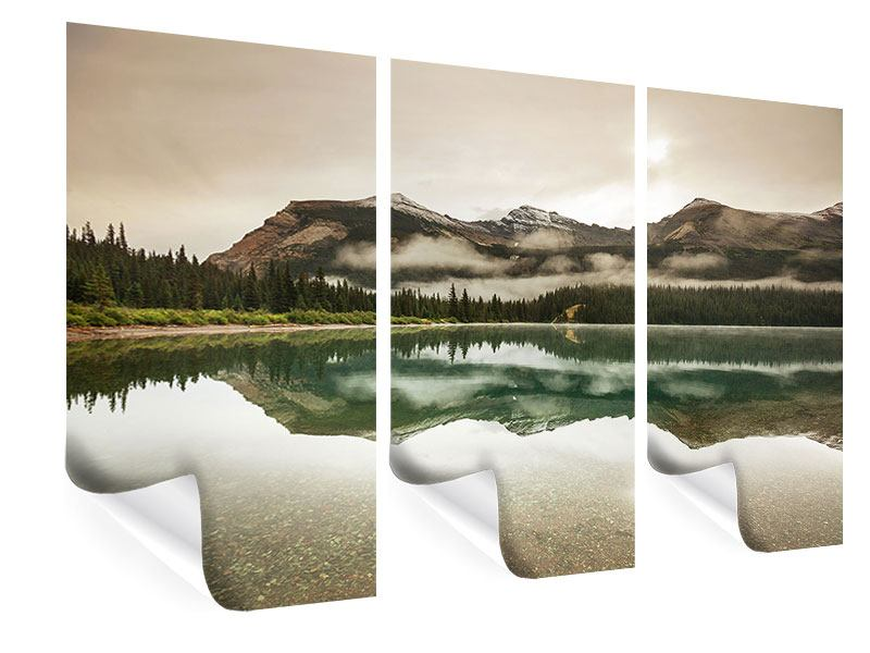 3 Piece Poster Reflection In Glacier National Park