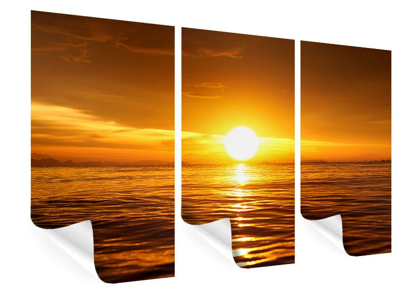 3 Piece Poster Glowing Sunset On The Water