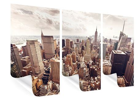 3 Piece Poster Skyline Over The Roofs Of Manhattan