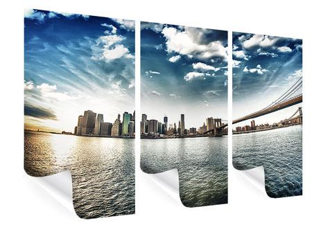 3 Piece Poster Brooklyn Bridge From The Other Side