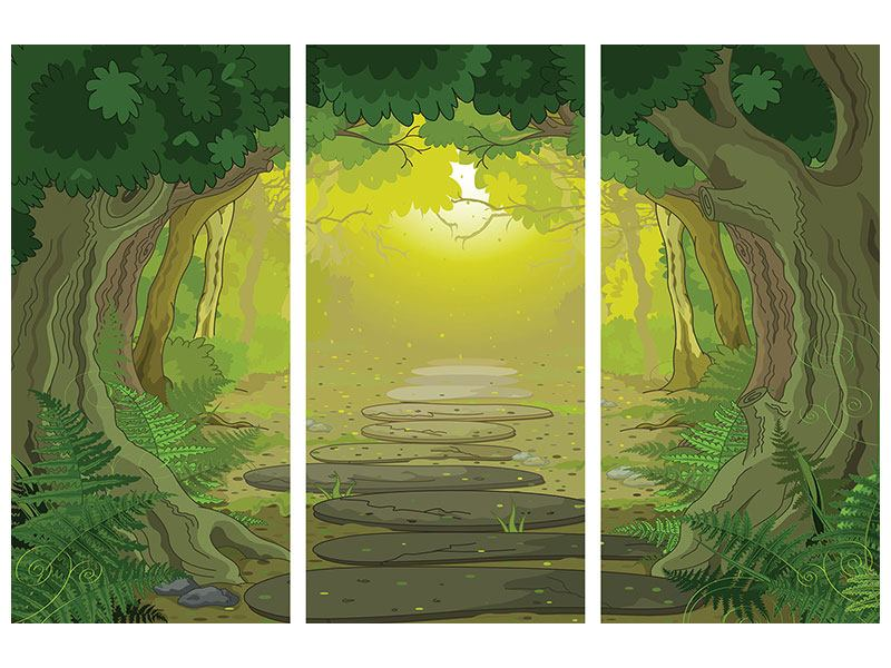 3 Piece Poster Fairy Tales Forest