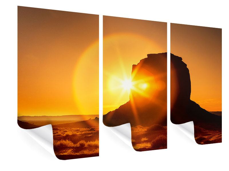 3 Piece Poster Sunset Monument Valley