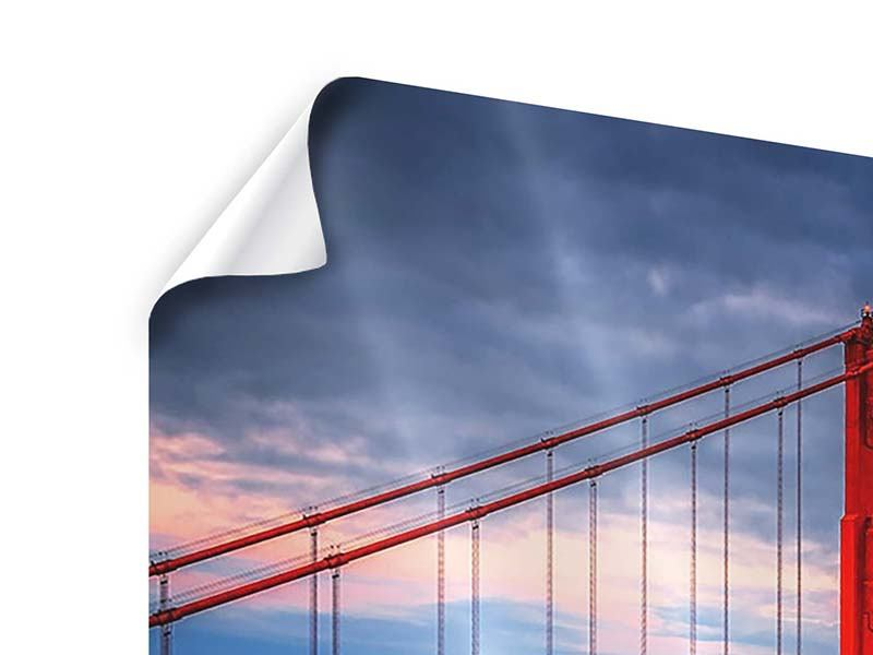 3 Piece Poster The Golden Gate Bridge At Sunset