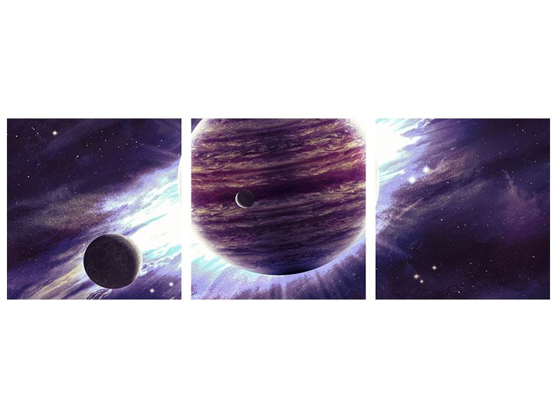 Poster en 3 parties Panoramique Astronomes