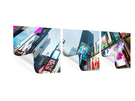 Poster en 3 parties Panoramique Shopping à NYC