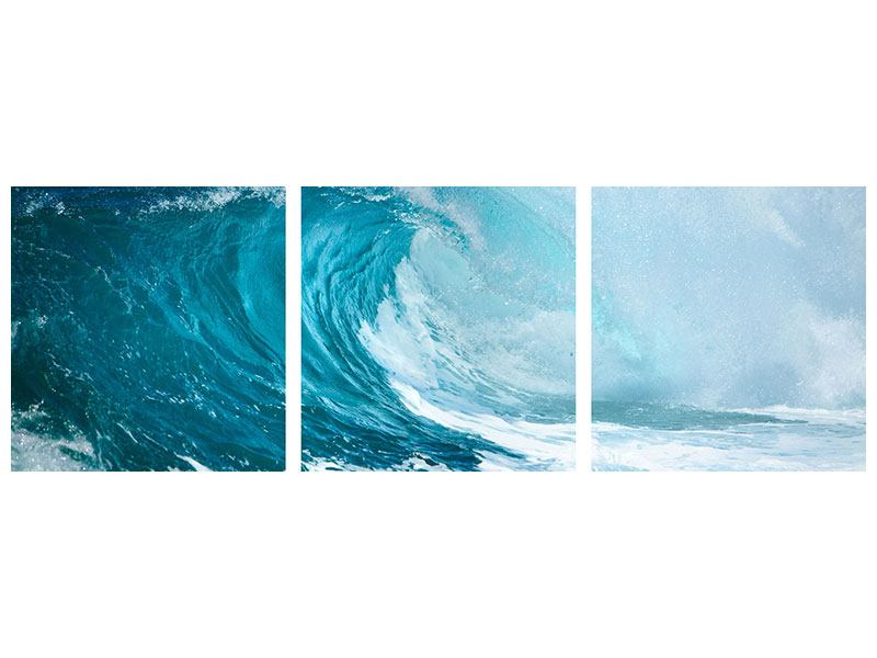 Panoramic 3 Piece Poster The Perfect Wave