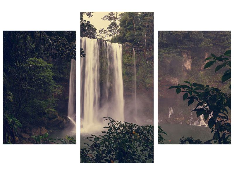 Modern 3 Piece Poster Waterfall In Mexico