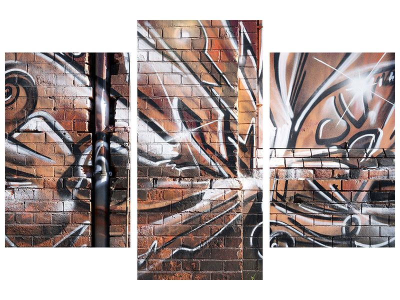 Modern 3 Piece Poster Graffiti Wall