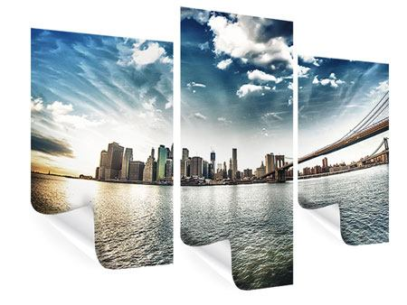 Modern 3 Piece Poster Brooklyn Bridge From The Other Side