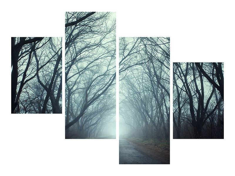 Modern 4 Piece Poster Cloud Forest