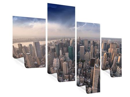 Modern 4 Piece Poster Manhattan