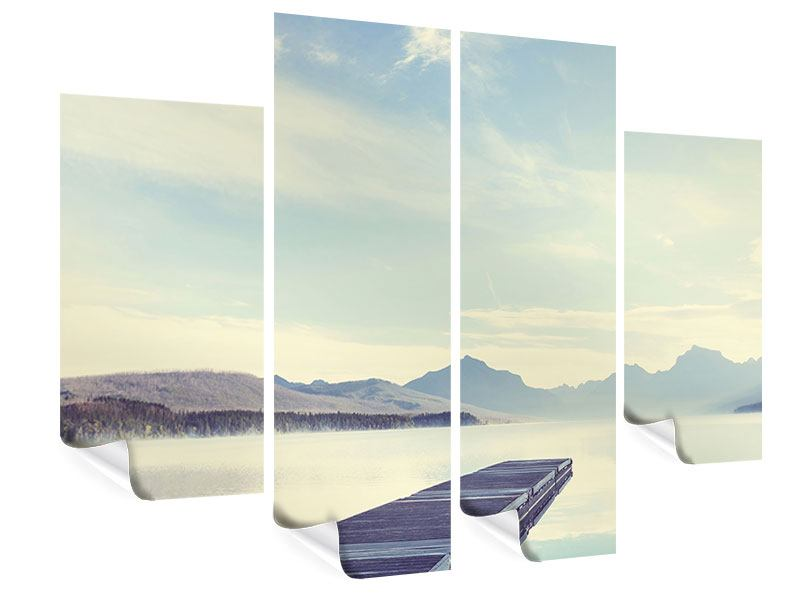 4 Piece Poster Montain Romance