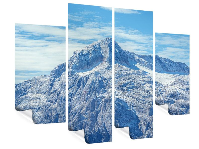 4 Piece Poster Peaceful Mountain Atmosphere