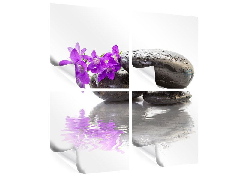 4 Piece Poster Feng Shui Stones