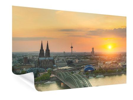 Poster Skyline Cologne At Sunset