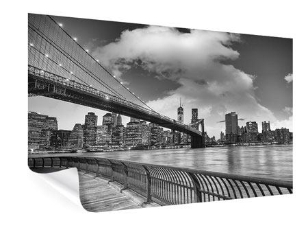 Poster Skyline Black And White Photography Brooklyn Bridge NY