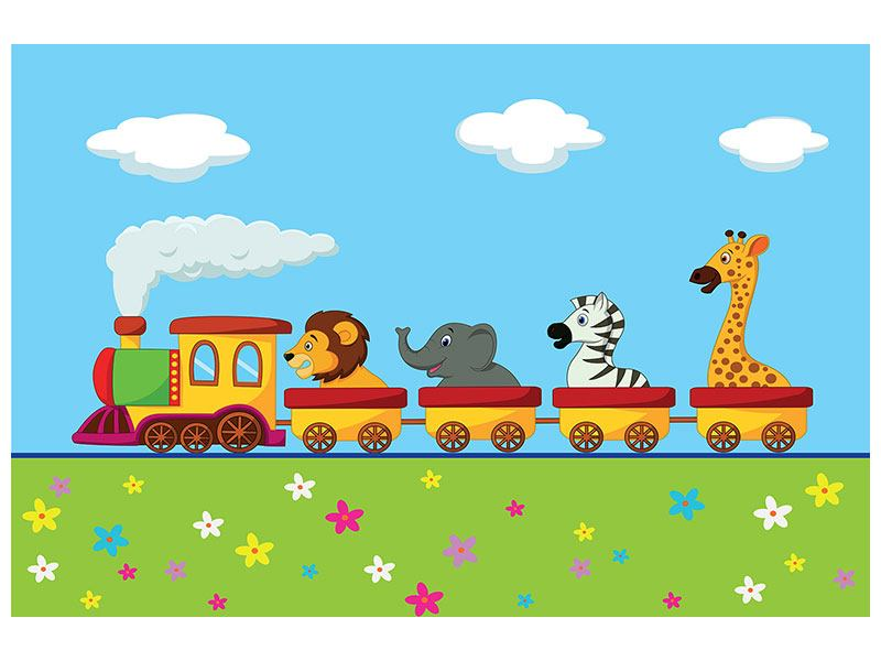 Poster Train d'animaux