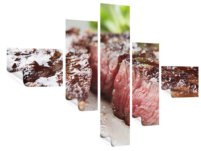 Modern 5 Piece Poster Perfect Beef Filet
