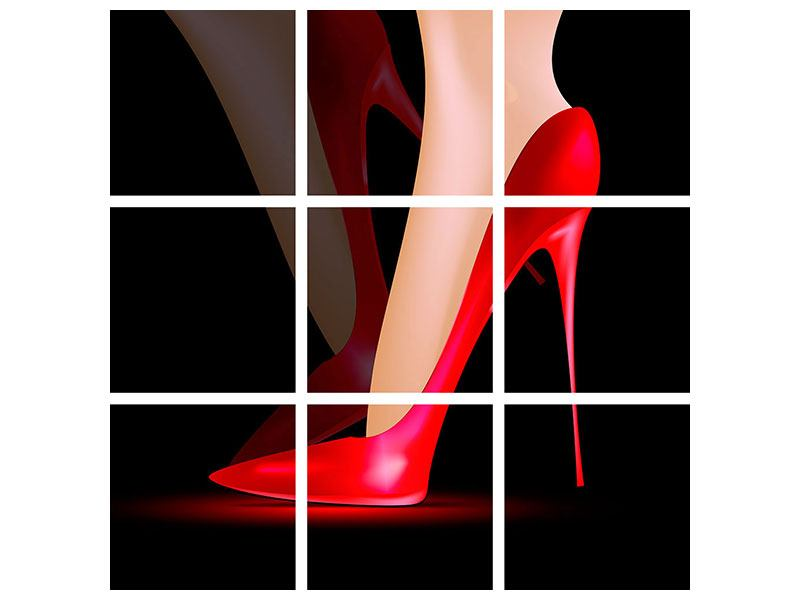 9 Piece Poster The Red High Heel